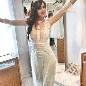 Dresses & Skirts - SHEER Lace Dress VINTAGE DREAM BRIDE!